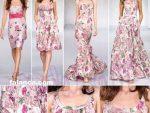 Cicek Desenli Elbise Modelleri 3