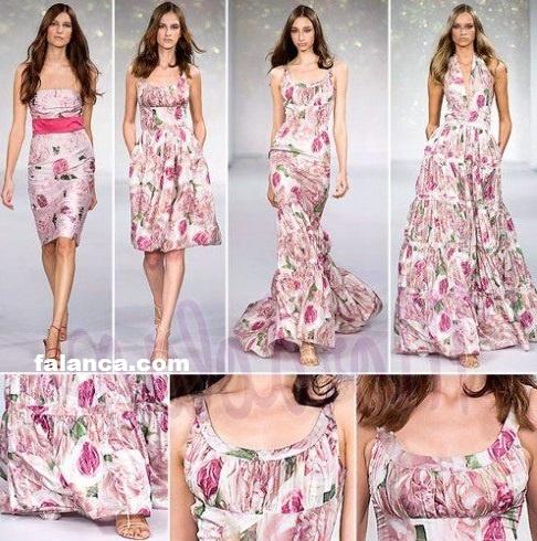 Çiçek Desenli Yazlık Elbise - 4