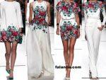 Cicek Desenli Elbise Modelleri 4
