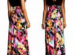 Cicek Desenli Elbise Modelleri 5