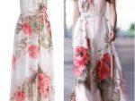 Cicek Desenli Elbise Modelleri 6