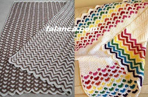 Zincirli zigzag yatak örtüsü örneği videolu
