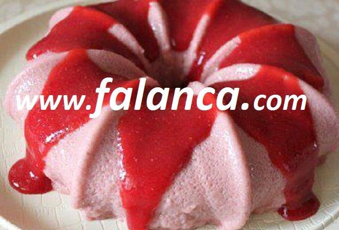 Çilekli Köpük Pasta Tarifi