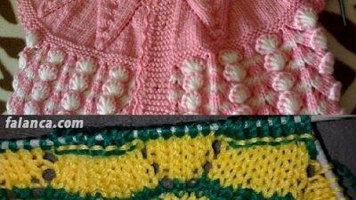 Renkli Tomurcuk Bebek Yeleği Modeli