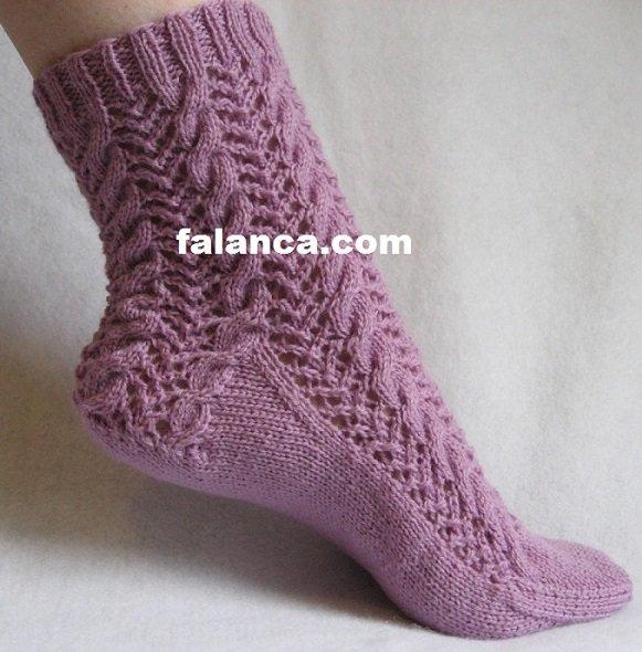 Anlatımlı Örgü Çorap Modelleri