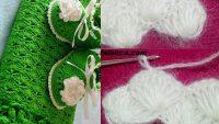 Deniz kabuğu bebek battaniyesi tığ işi resimli yapılışı
