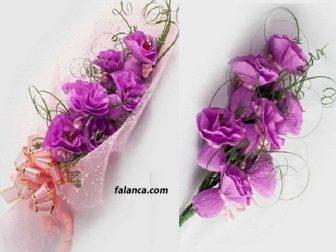 El işi kağıdından buket çiçek yapımı