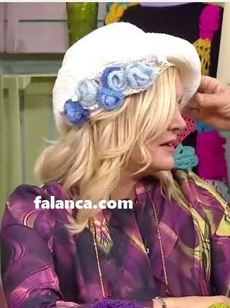 Çiçekli Elizabeth Şapkası Yapılışı