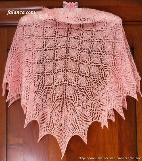 Prenses Şalı (ethereal triangular shawl ) 52
