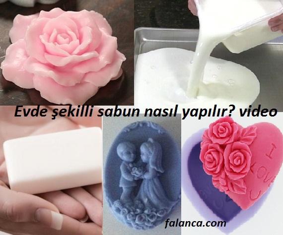 Evde şekilli sabun yapımı video