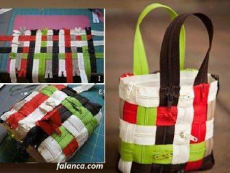 Fermuardan çanta yapımı