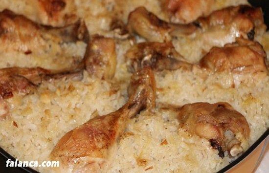 Fırında Tavuklu Pirinç Pilav