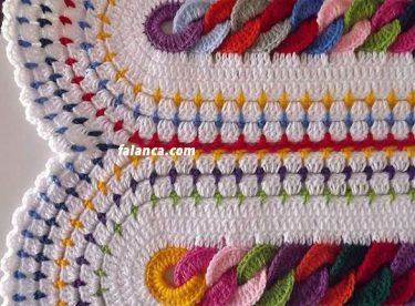 Halka bebek battaniyesi yapılışı