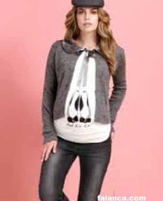 Hamile Kislik Giyim Modelleri 9