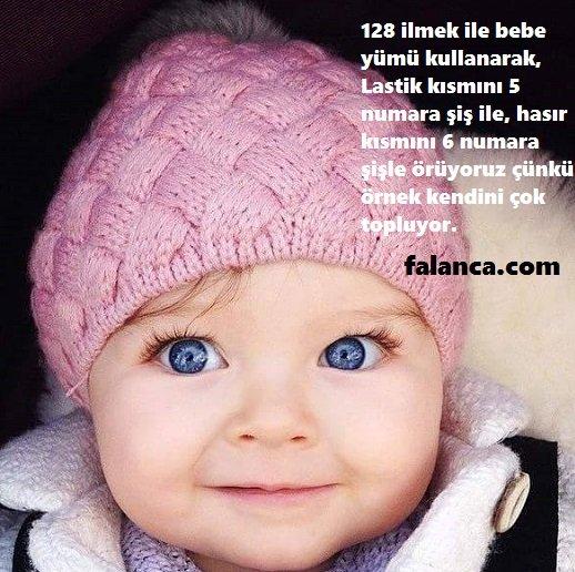 Yeni Doğan Bebek Örgü Şapkalar
