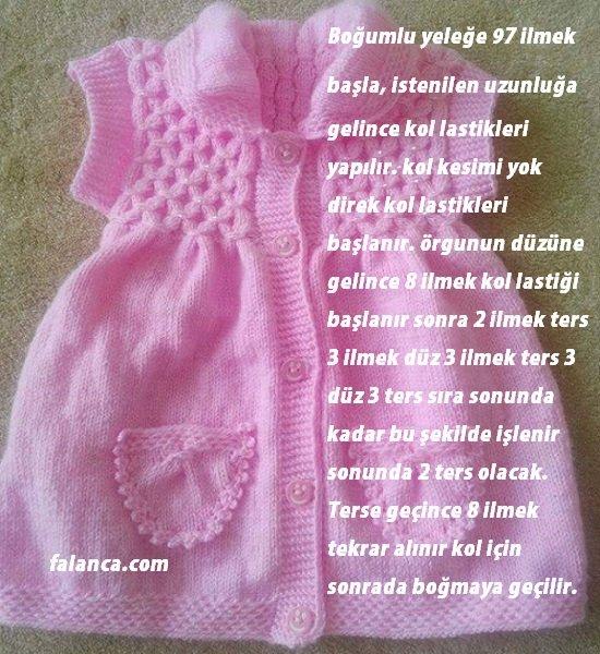 Boğumlu baklava dilimli bebek yelek 1