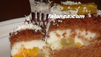 İrmikli Meyveli Pasta