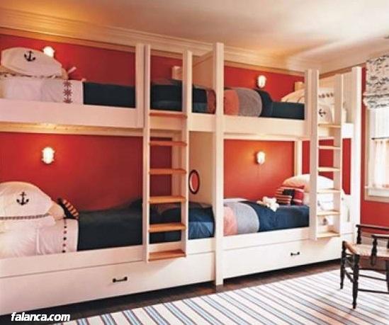 Katlı çok yataklı özel tasarım ranzalar