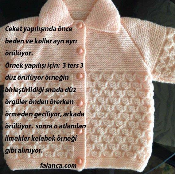 Kelebek Kardeşliği Bebek Ceketi Yapılışı1