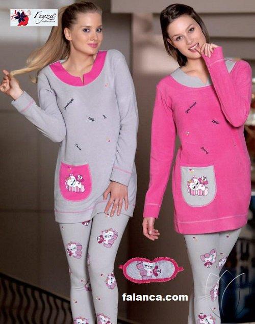 Kislik Bayan Pijama Takimlari 0