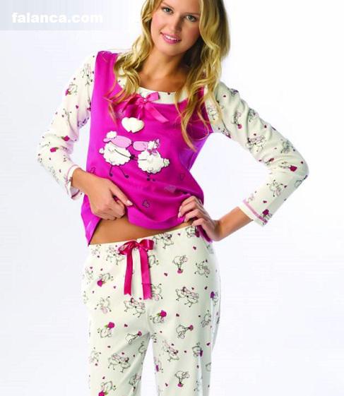 Kislik Bayan Pijama Takimlari 1