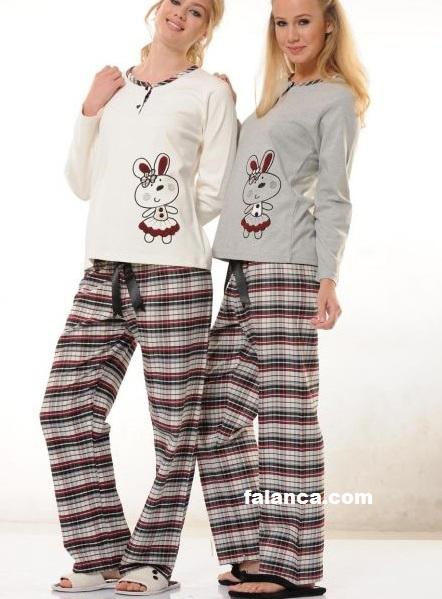 Kislik Bayan Pijama Takimlari 3