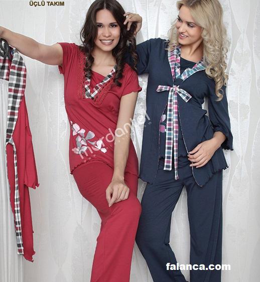 Bayan Kışlık Pijama Takımı 8