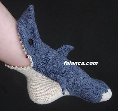 Köpek Balığı Çorap Yapılışı