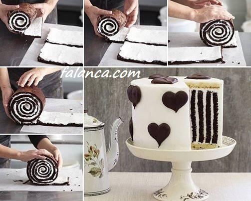 Kremalı Sevgililer Günü Pasta Yapılışı 2