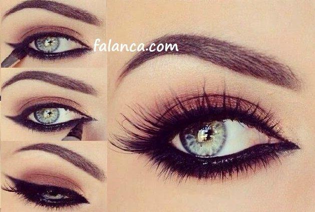 Makyaj Ve Göz Şeklinize Göre Eyeliner Nasıl Sürülür Resimli