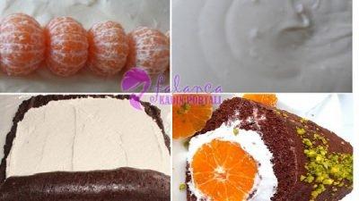 Mandalinalı Rulo Pasta