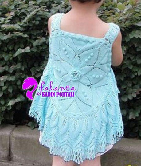 Mavi Çocuk Elbisesi