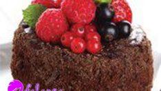 Meyveli çikolatalı pasta