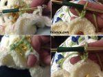 Mum Cicegi Bebek Battaniyesi Yapilisi 4