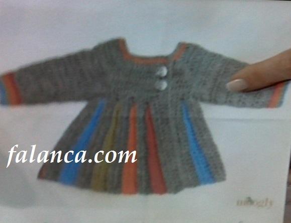 Anlatımlı Bebek Örgü Rengarenk Hırka – Nurgün Tezcan