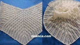 Dört Parçalı Şiş Şal (nypon shawl )