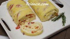 Kahvaltılık Sucuklu Rulo Omlet