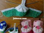Şiş Örgü Bebek Patik Modelleri 16