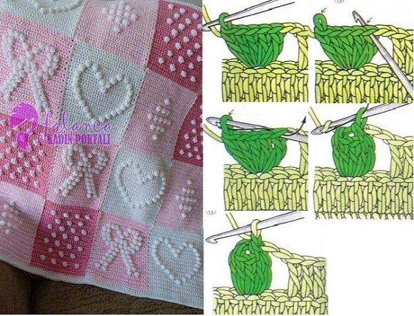 Patlamış mısır örneğinden desenli bebek battaniyeleri