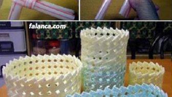 Pipetlerden sepet yapımı