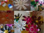 Plastik Siseden Ev Dekorasyonu Icin Cicek Yapimi 8