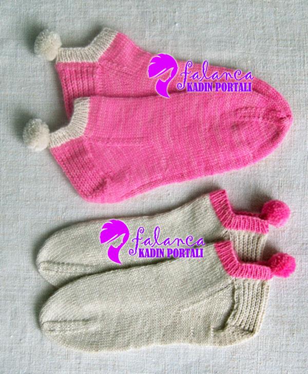Ponponlu Çorap Yapılışı