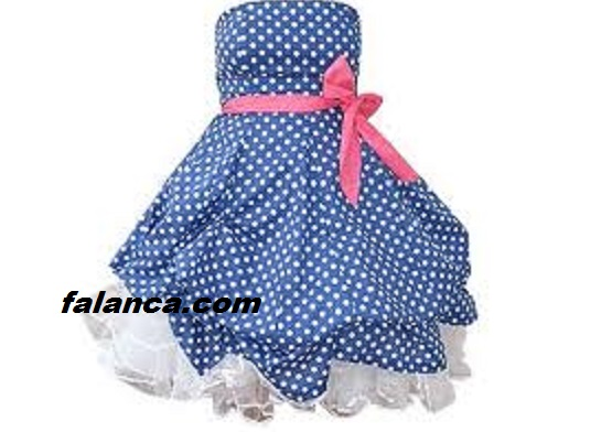 Puanl Elbise Modelleri Straplez