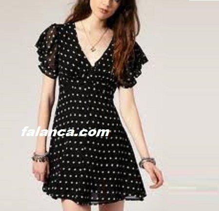 Puantiyeli Elbise Modelleri 1
