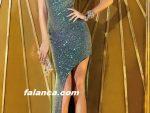 Pullu Elbise Modelleri Bacak Dekolteli Elbise