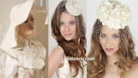 Şapkalı nikah saçları