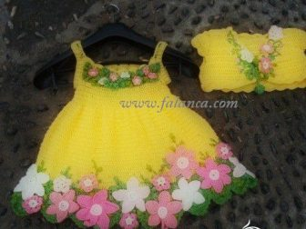 Çiçekli Sarı Takım