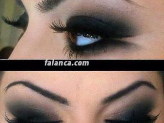 Красивый макияж с темными тенями