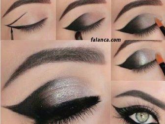 Siyah Göz Makyajı Modelleri