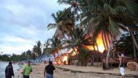 Survivor adasında yangın!